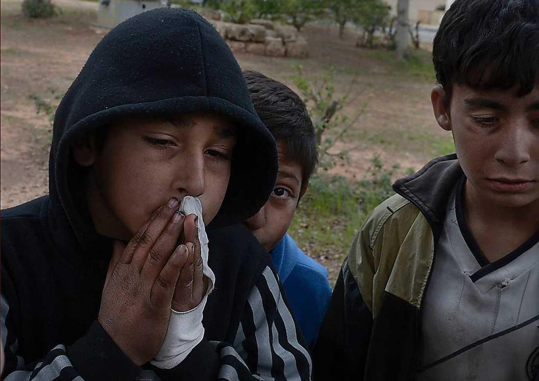 Mohamed Kodar, 12, och två av hans bröder Mahmoud, 13, och Ahmed, 11.