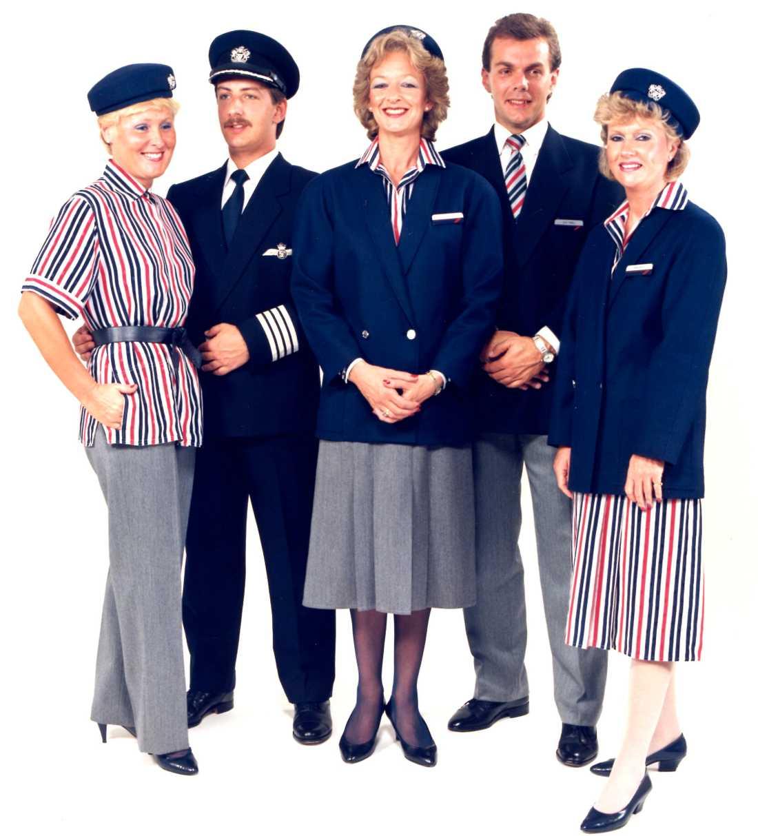 Året var 1985 och förändringar i personalens uniformer gjordes för att skapa ett mer välkomnande intryck.