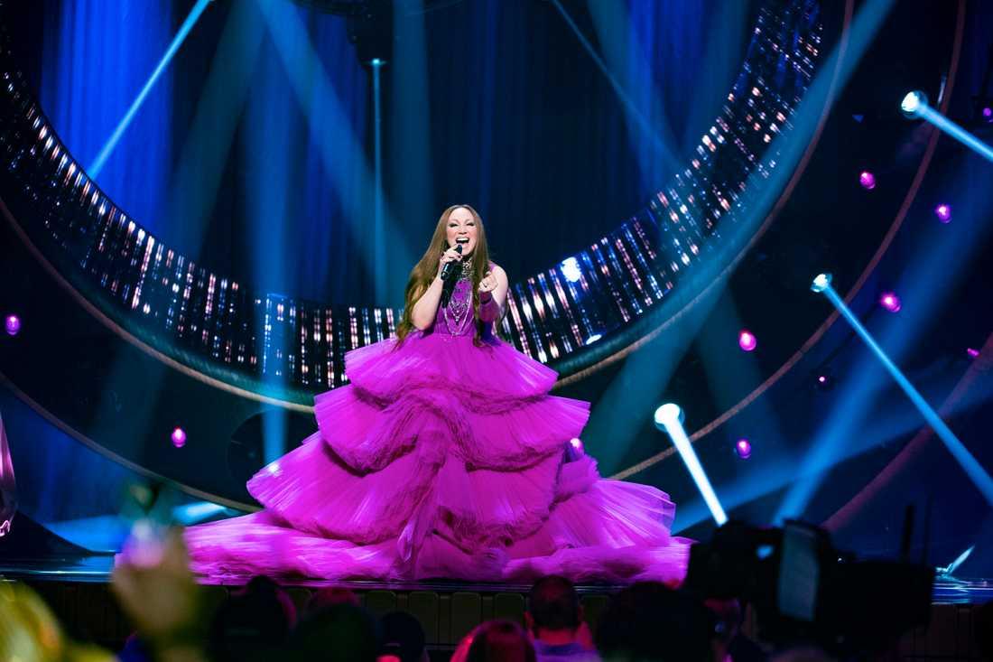 Charlotte Perrellis klänning i Melodifestivalen 2019