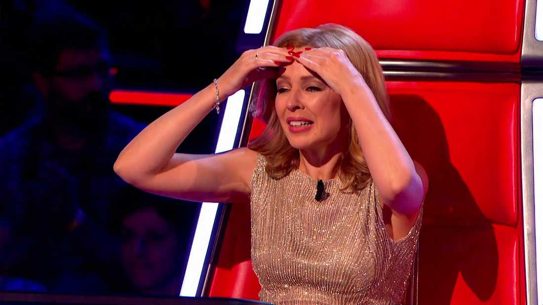 """Kylie Minogue som domare i """"The voice""""."""