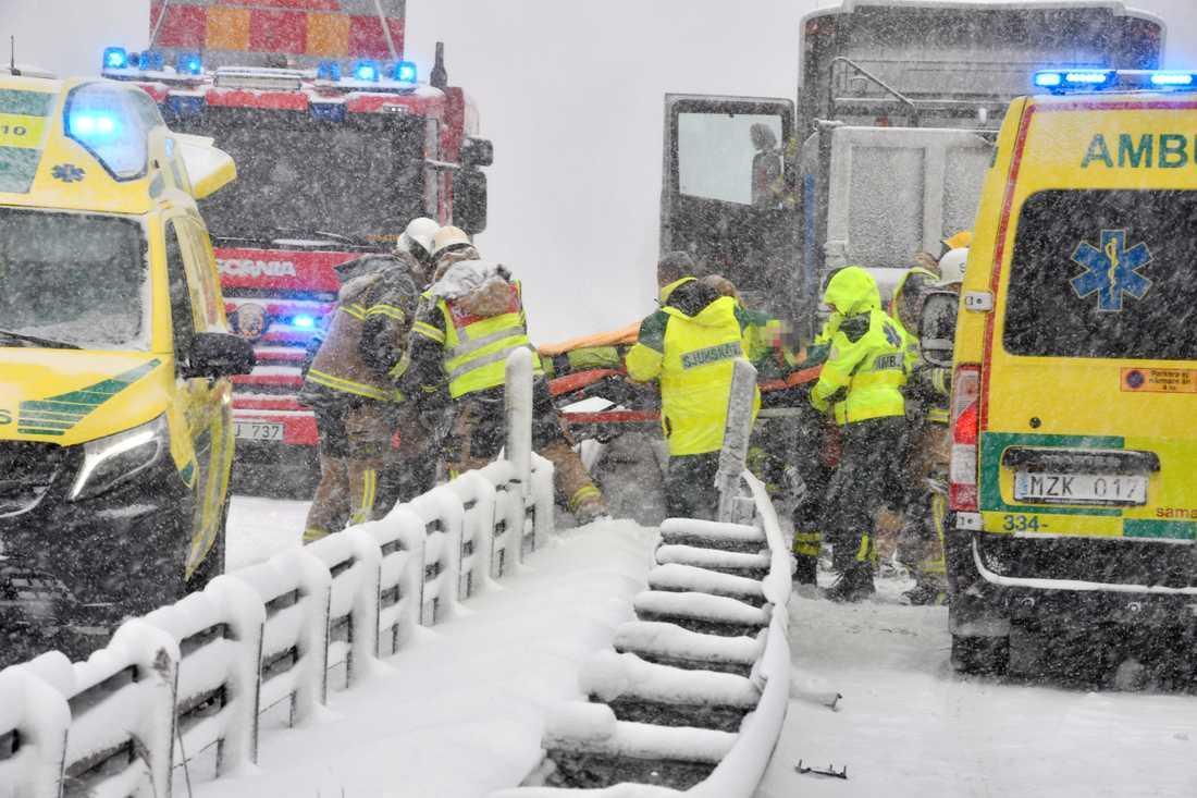 Olycka vid Farstabron, Stockholm.