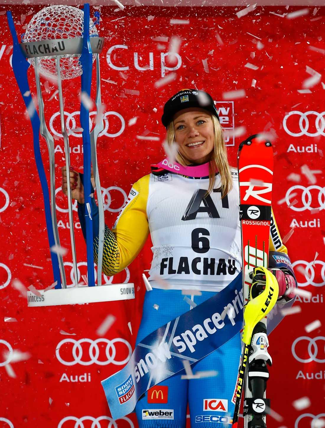 Frida Hansdotter – stort svenskhopp i alpina VM 2017.