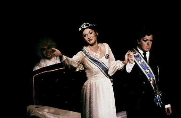 Lindarw och Flinckman som kungaparet 1980.