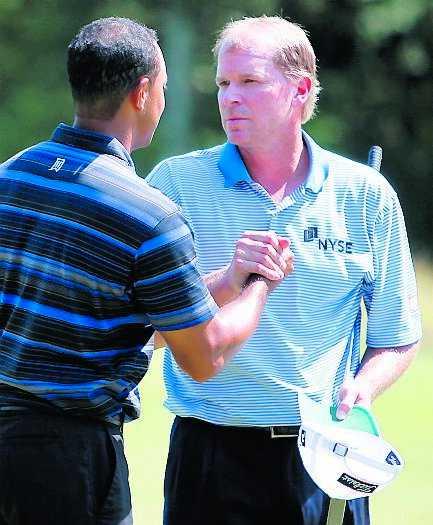 Steve Stricker och Tiger Woods.