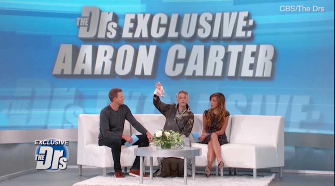 "Aaron Carter i ""The doctors"" på CBS."