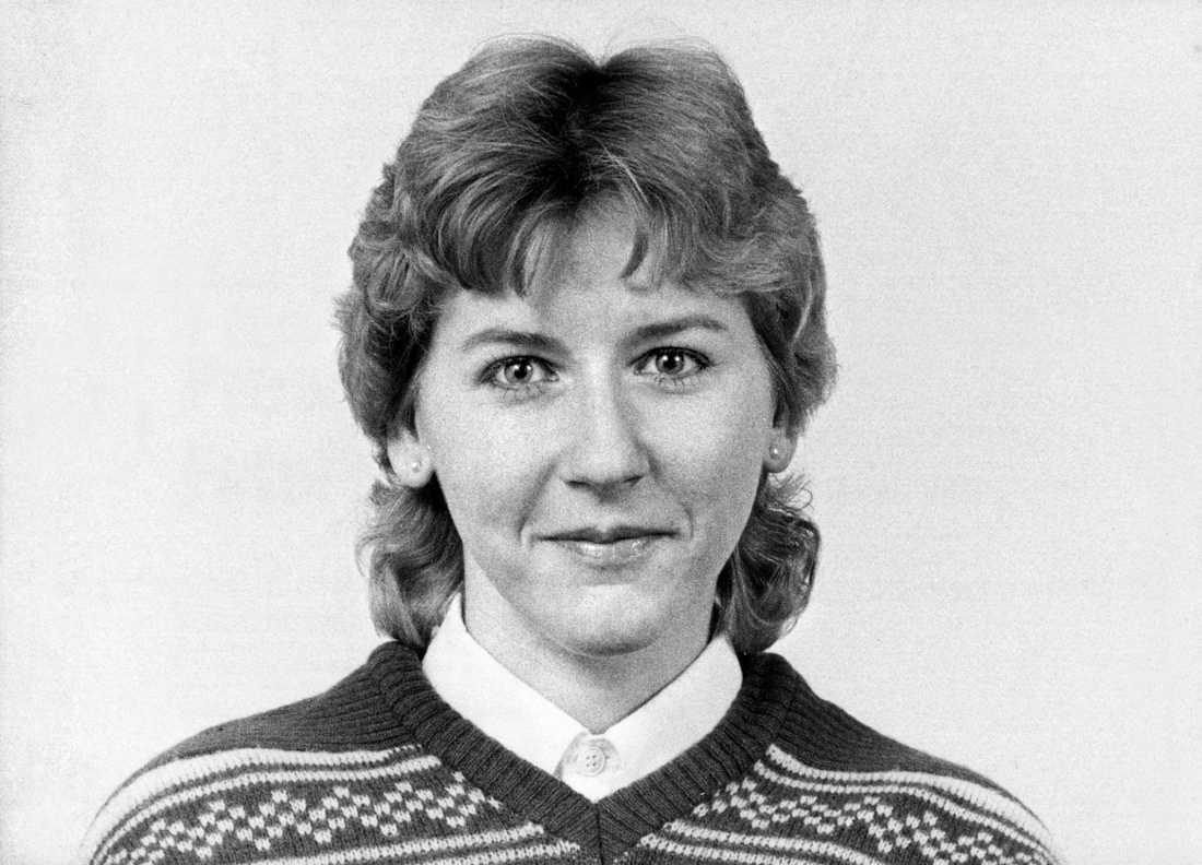 Dåvarande riksdagsledamoten Margot Wallström fotograferad 1982.