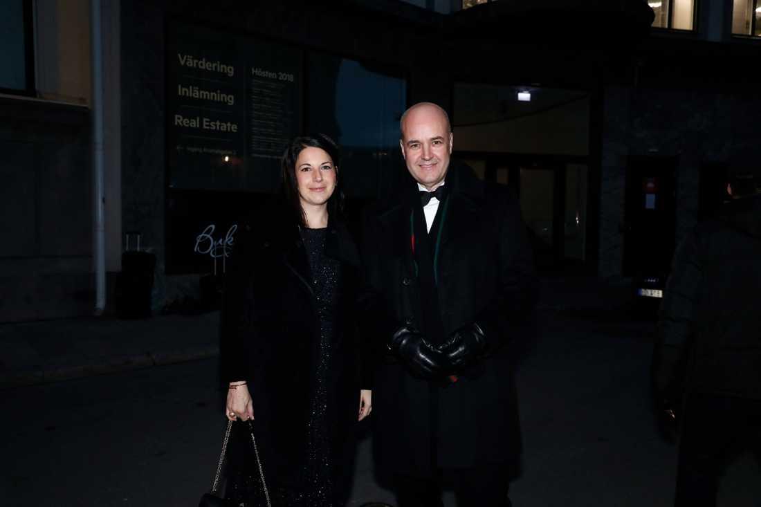Fredrik Reinfeldt och Roberta Alenius.