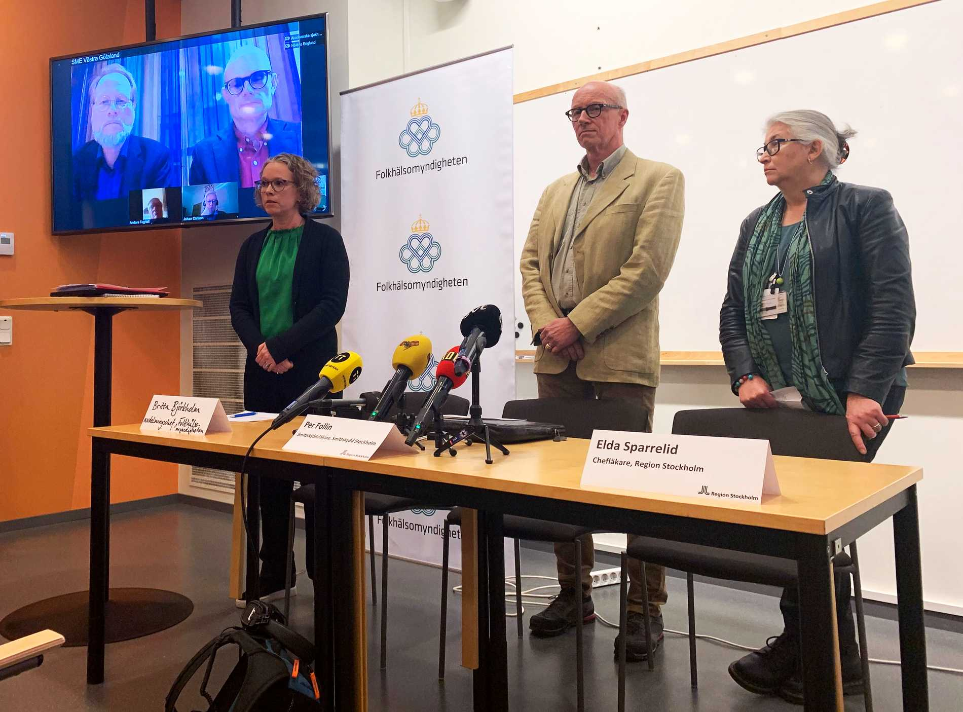 Fem nya coronafall i Sverige – totalt sju
