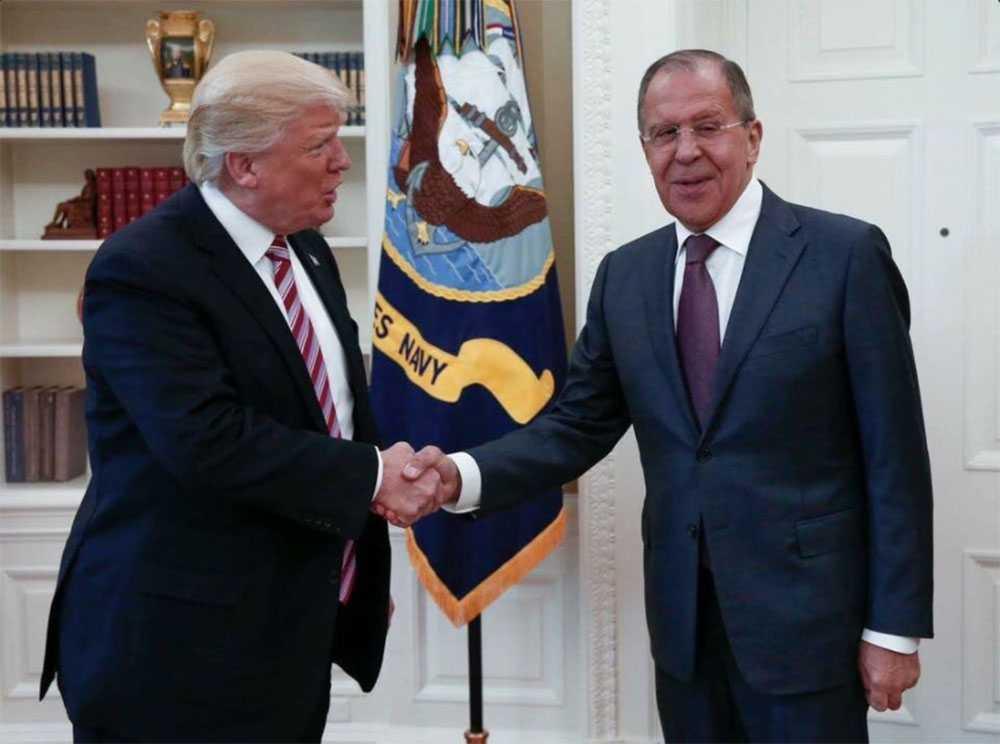 Ryska myndigheter har släppt den här bilden från mötet.
