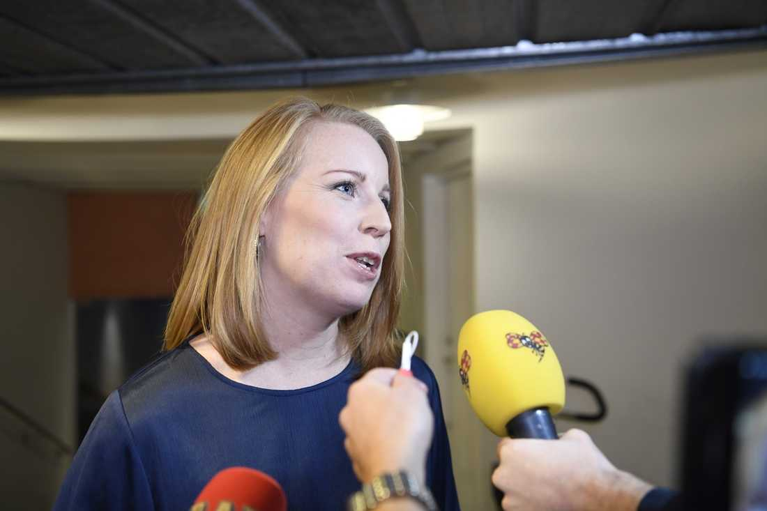 C-ledaren Annie Lööf.