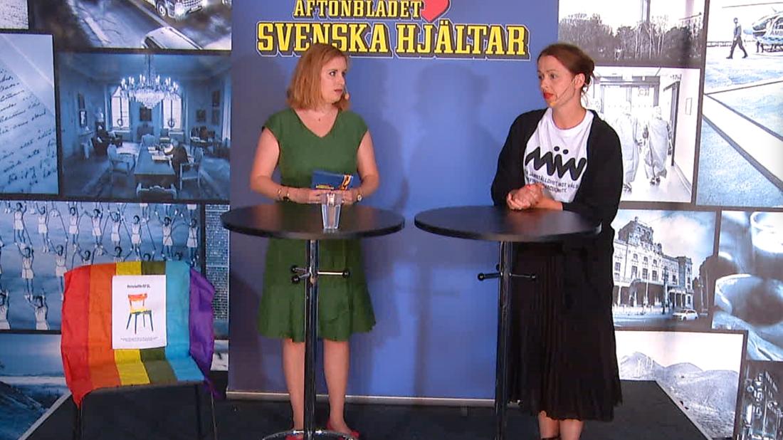 Under Svenska hjältars panelsamtal om civilkurage var #enstolförrfsl på scenen.