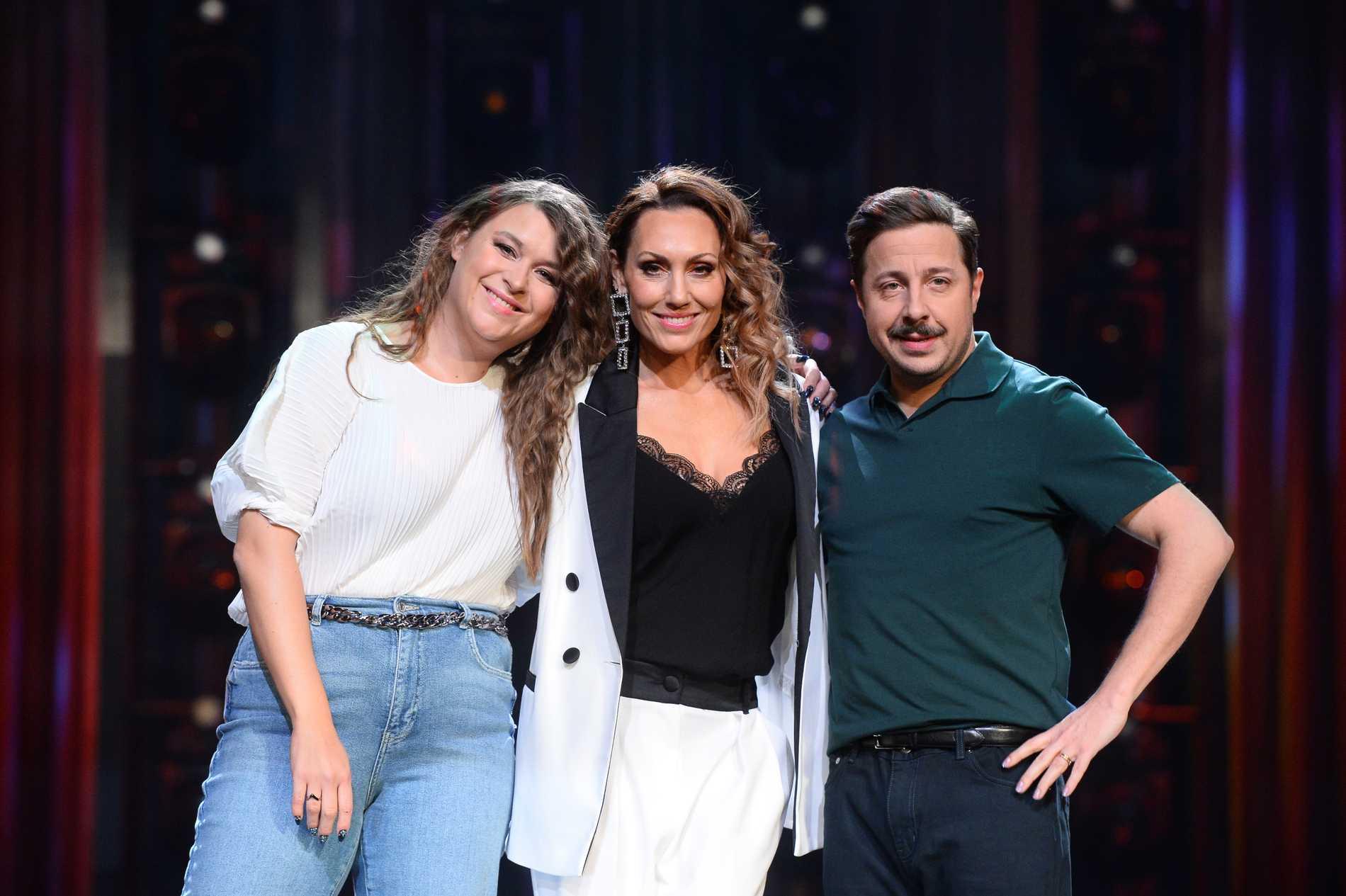 Linnea Henriksson, Lina Hedlund och David Sundin i Malmö inför Melodifestivalen 2020