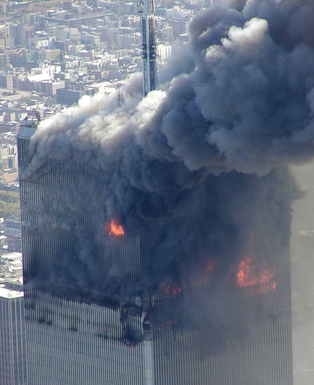 Terrorattacken mot World Trade Center den 11 september 2001.