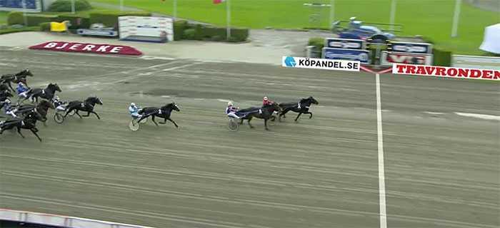 Här vinner Valle Ask och Tom Erik Solberg Norskt Trav-Kriterium och 500 000 norska kronor.