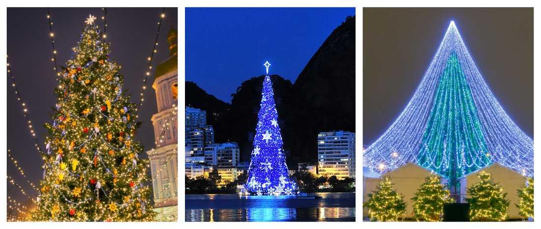 Julgranar i olika länder i världen