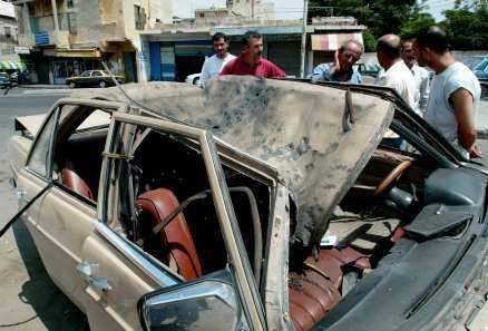 träffad En israelisk missil slog ner nära bilen som den libanesiska fotografen färdades i. Hon dog i attacken.