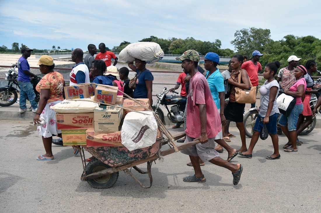 Gränsen mellan Haiti och Dominikanska Republiken.