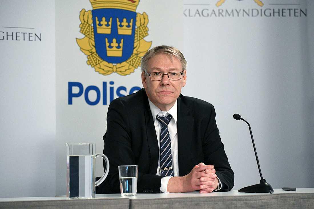Chefsåklagare Krister Petersson berättade vid en digital pressträff den 10 juni att han kommit fram till att den så kallade Skandiamannen troligen var den som sköt Olof Palme 28 februari 1986. Arkivbild.