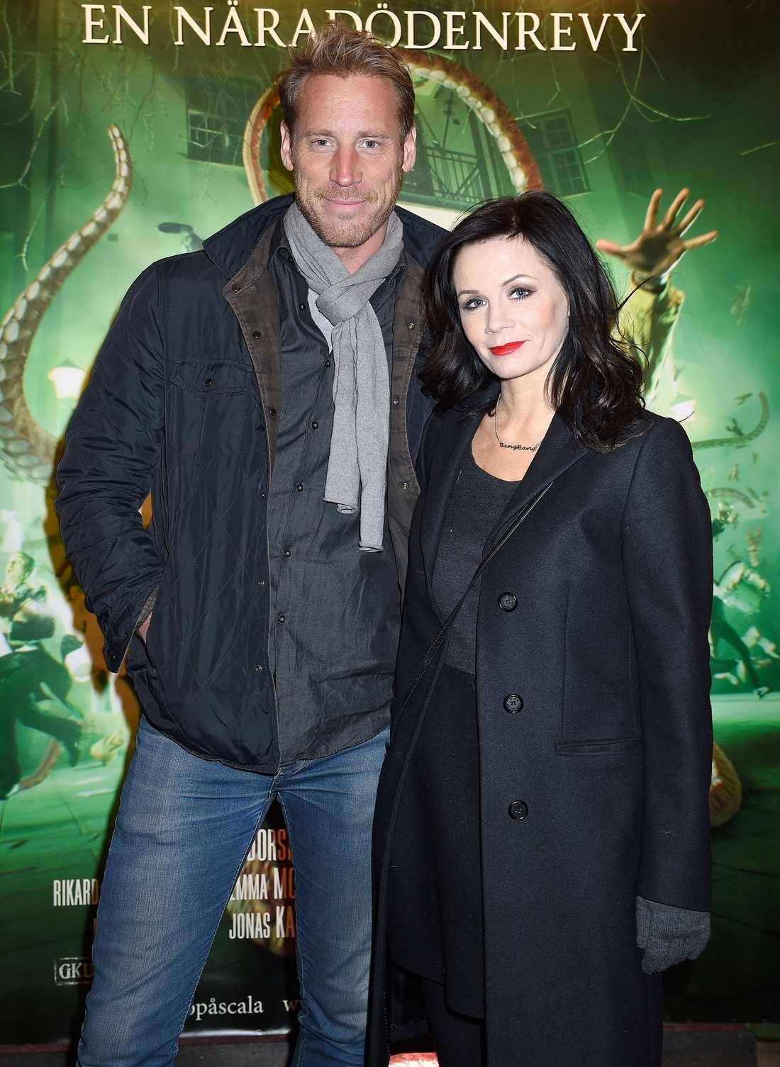 Lena Philipsson med pojkvännen Pierre Leander.