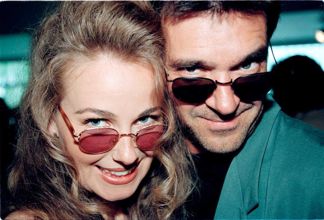 Yvonne Ryding och Kjell Bergqvist 1994.