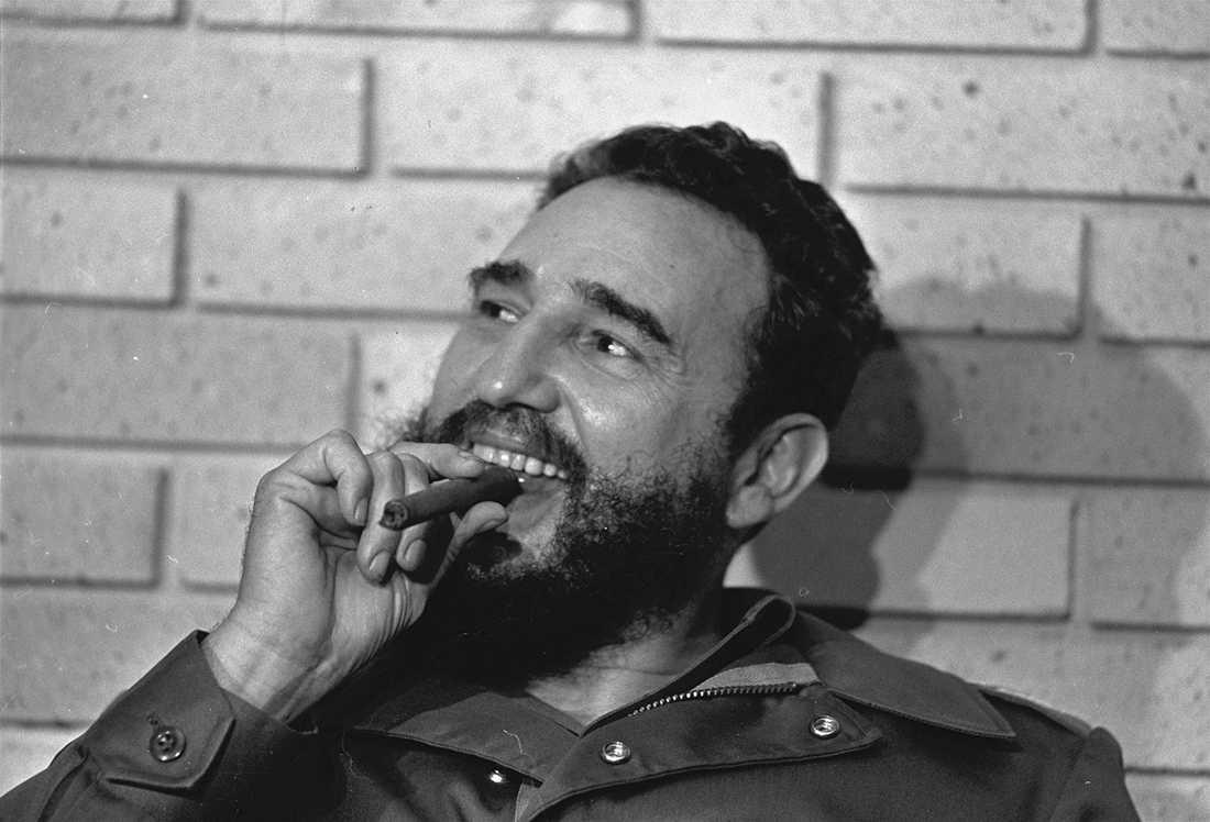 """Castro älskade cigarrer – men slutade röka på 1980-talet. """"Jag slutade för att min läkare sa till mig"""", berättade han för Aftonbladet."""