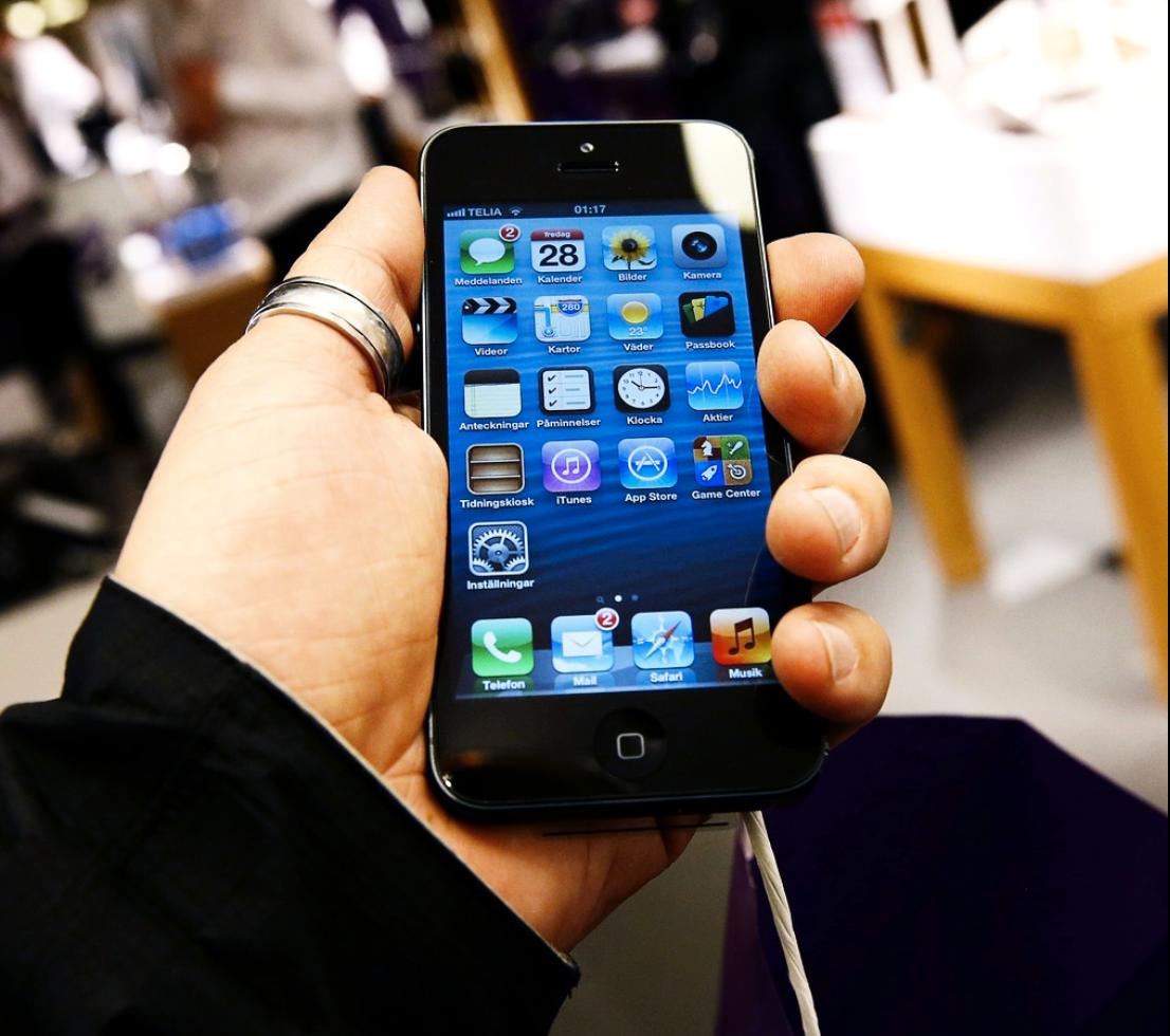 Iphone 5 berörs av den ändringen.