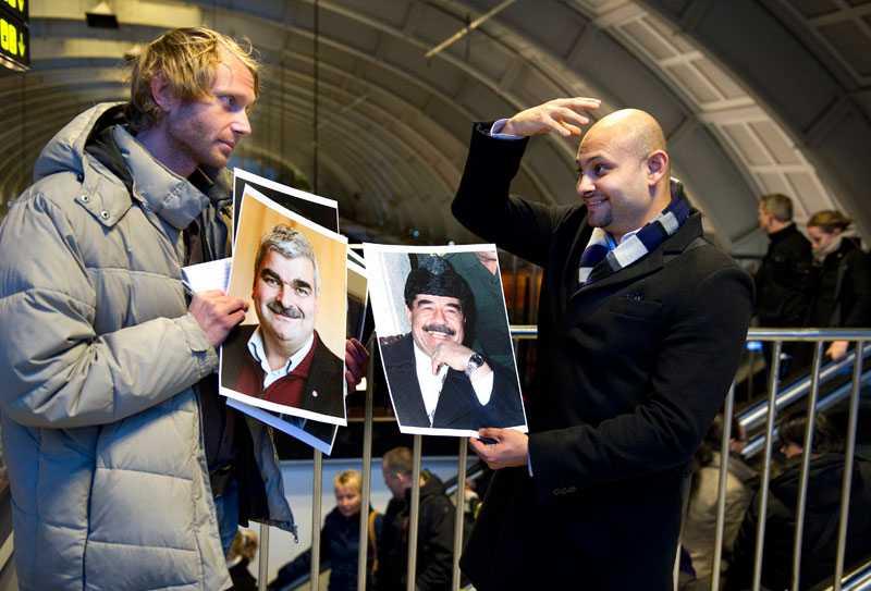 """MichalStankov, 35, från Haninge, hade precis läst om Juholt på aftonbladet.se. Och tyckte han var lik en av de andra mustaschprydda männen: """"Hade ni satt på en mössa på honom så hade jag sagt Saddam Hussein direkt."""""""