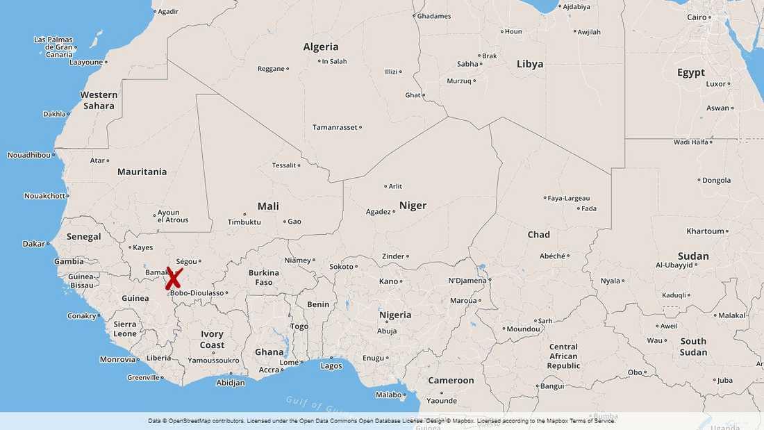 Många människor miste livet i en svår krock i Mali på tisdagen.