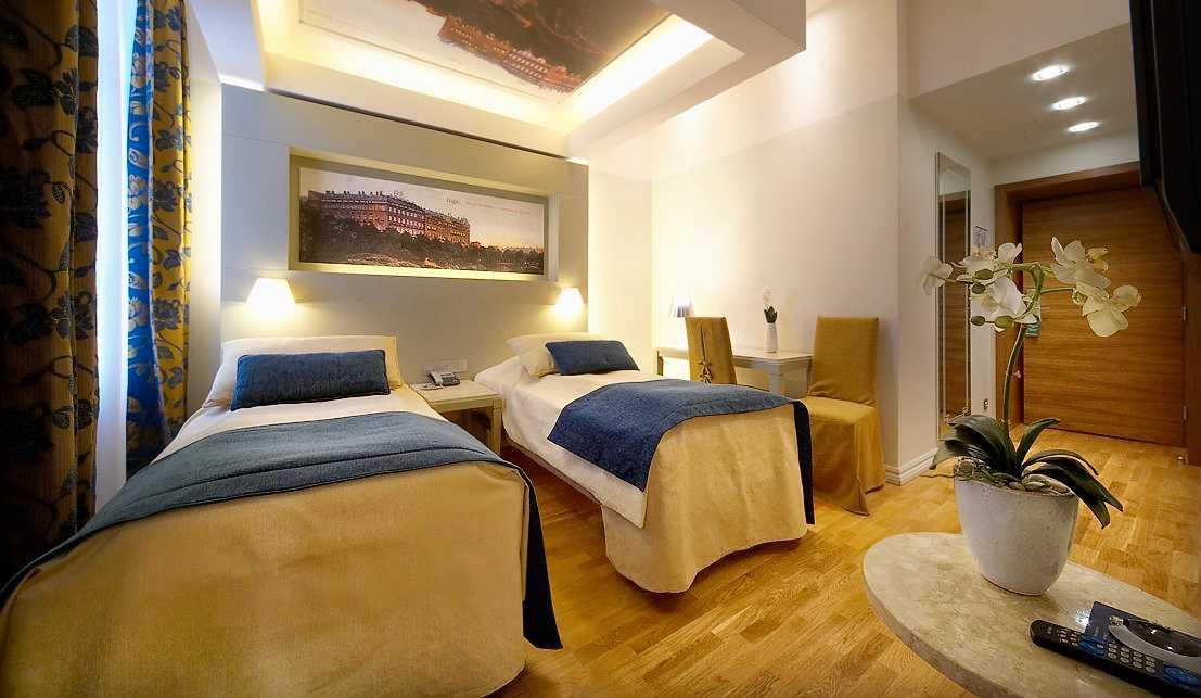 Ett av hotellets rum.