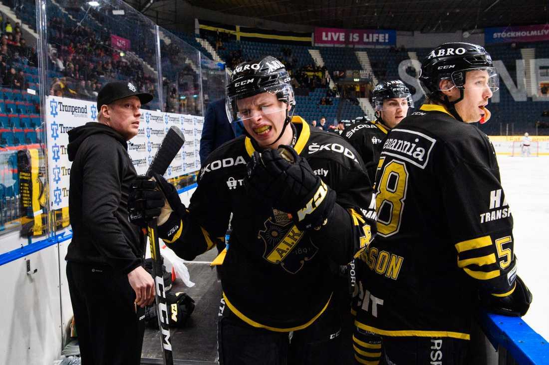 AIK-spelare under vinterns seriespel.