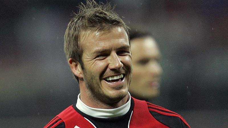 """""""Inter har bra spelare på alla positioner, men jag tycker att de två anfallarna är väldigt vassa"""", säger David Beckham."""