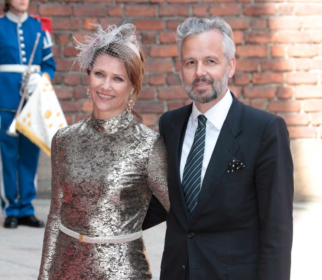 Märtha Louise och ex mannen Ari Behn var på kung Carl Gustavs 70 års fest på Stadshuset i Stockholm.
