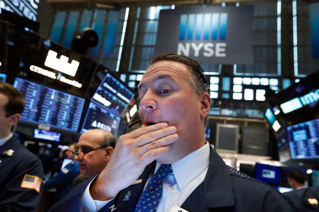 Bekymrade miner på Wall Street i dag.