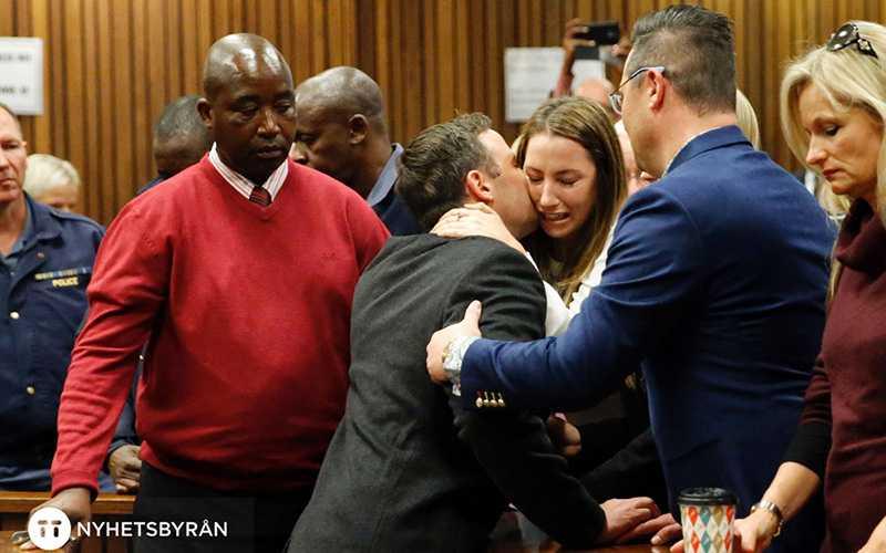 Pistorius kramar om sin syster efter att domen fallit