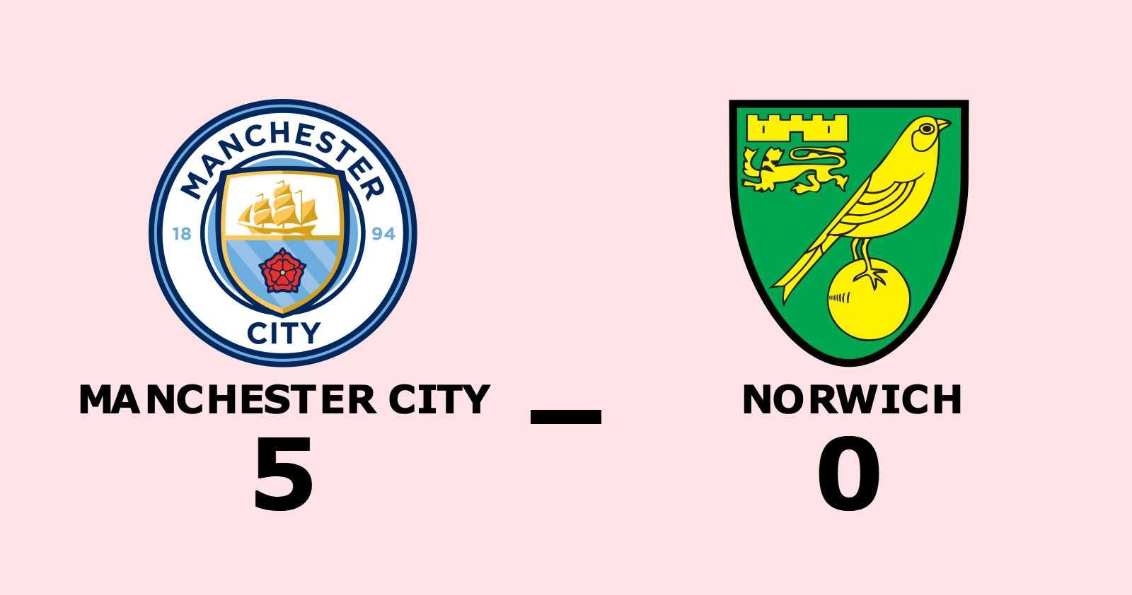 Storseger för Manchester City hemma mot Norwich