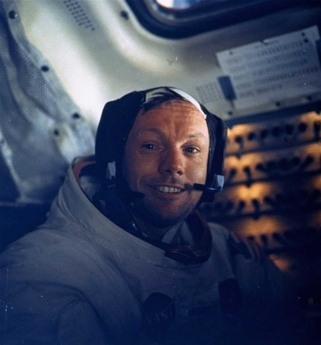 Neil Armstrong under månlandningsuppdraget.