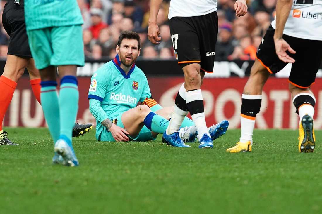 Det blev förlust för Lionel Messis Barcelona borta mot Valencia.