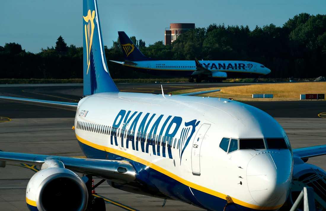 Ryanair strejkar i fem länder i Europa i dag.