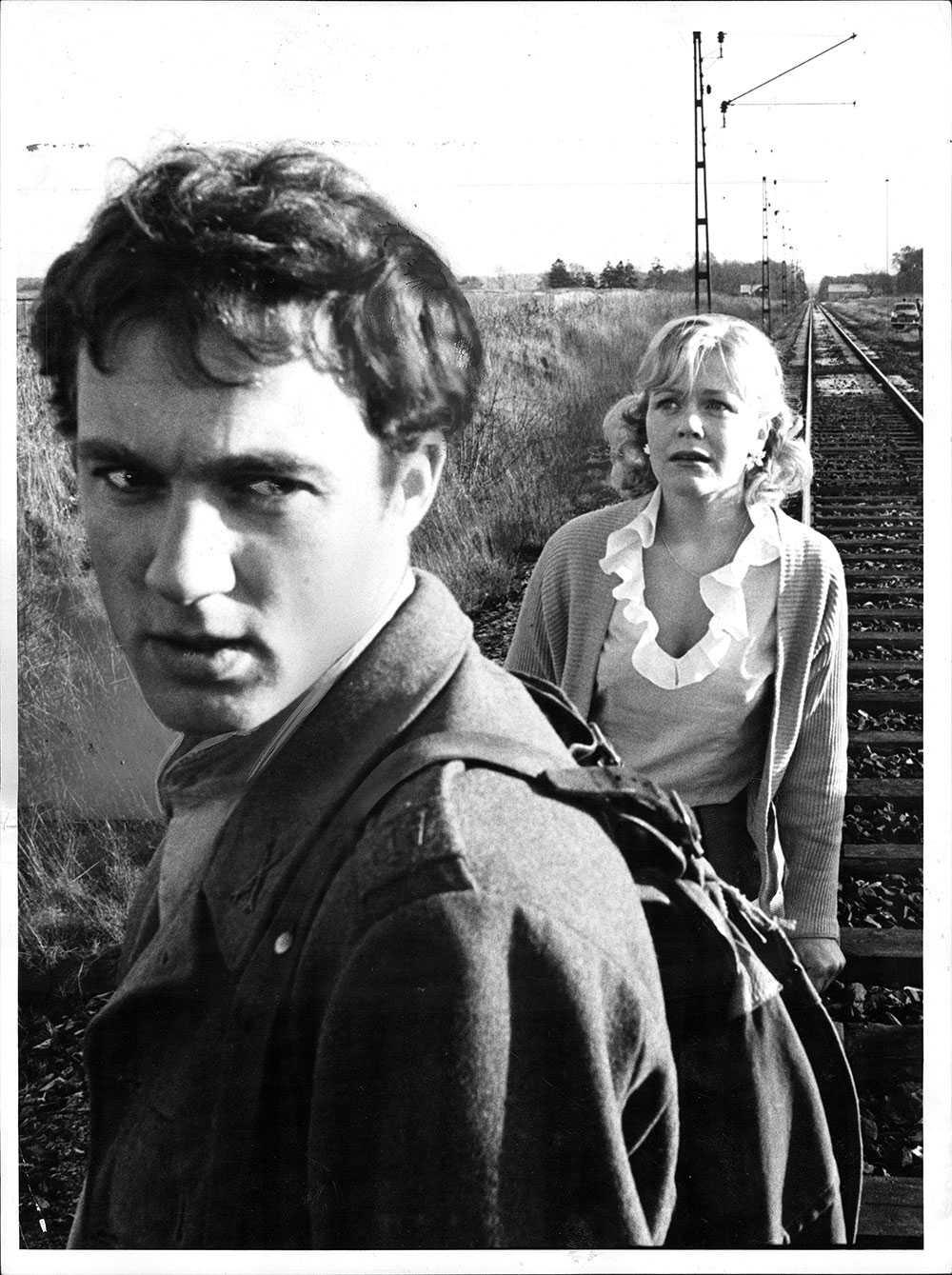 Från filmen Ormen med Christina Schollin, en bild tagen 1965.