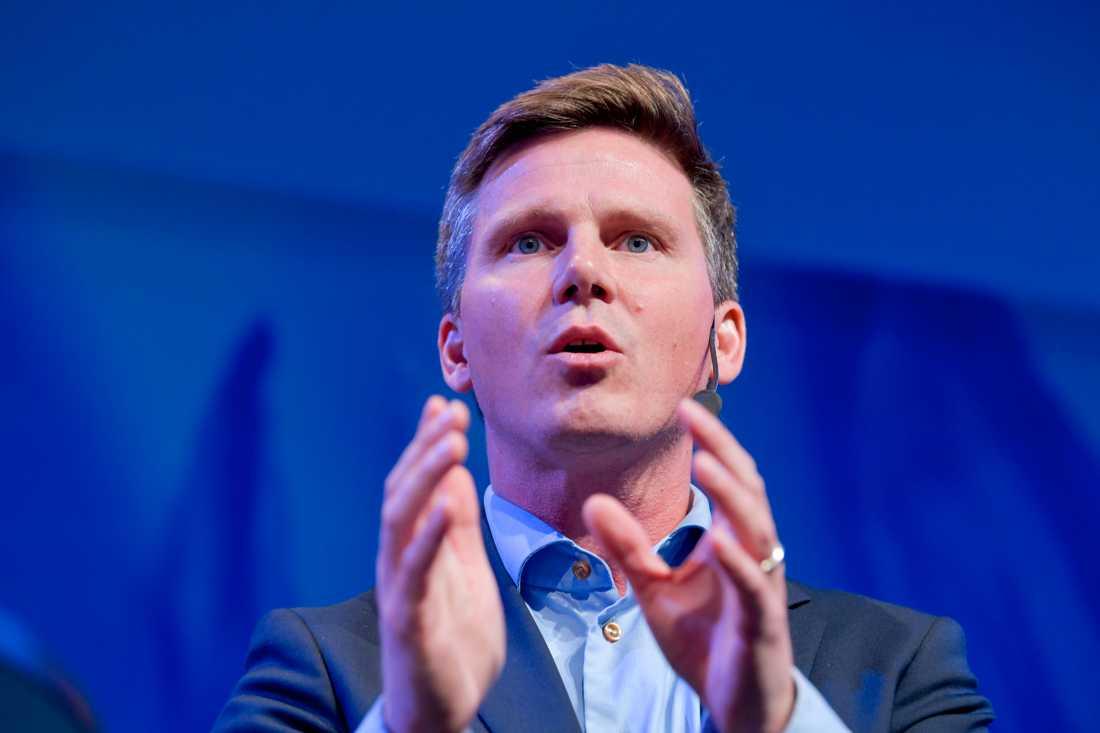 Erik Ullenhag under Liberalernas turné