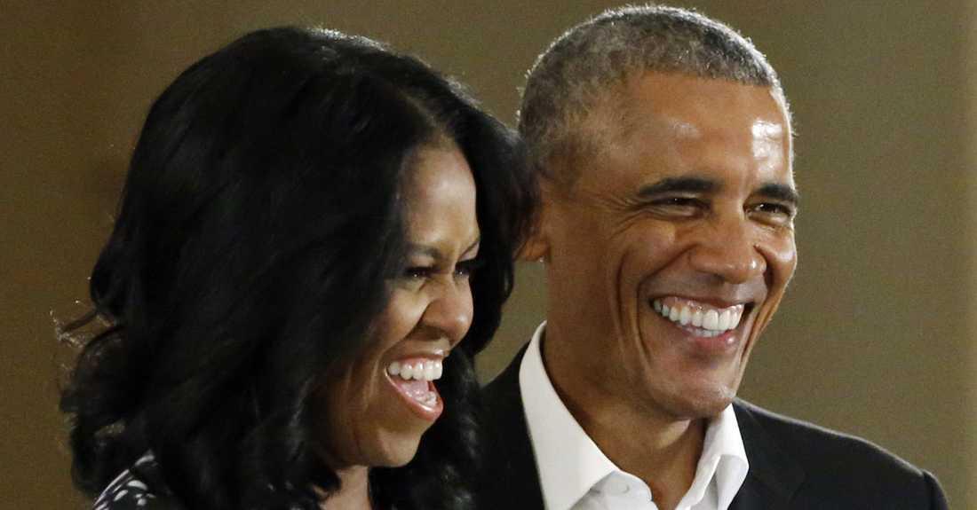 Barack och Michelle Obama i maj 2017.