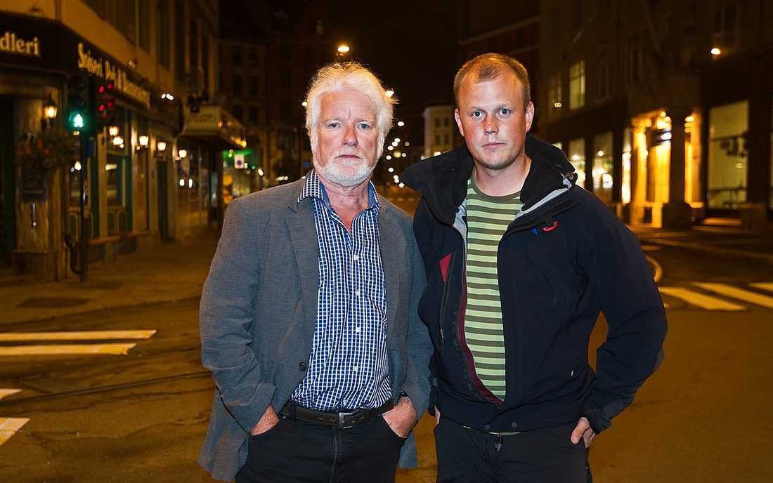 Aftonbladets journalister Pelle Tagesson och Andreas Hillergren på plats i Oslo.