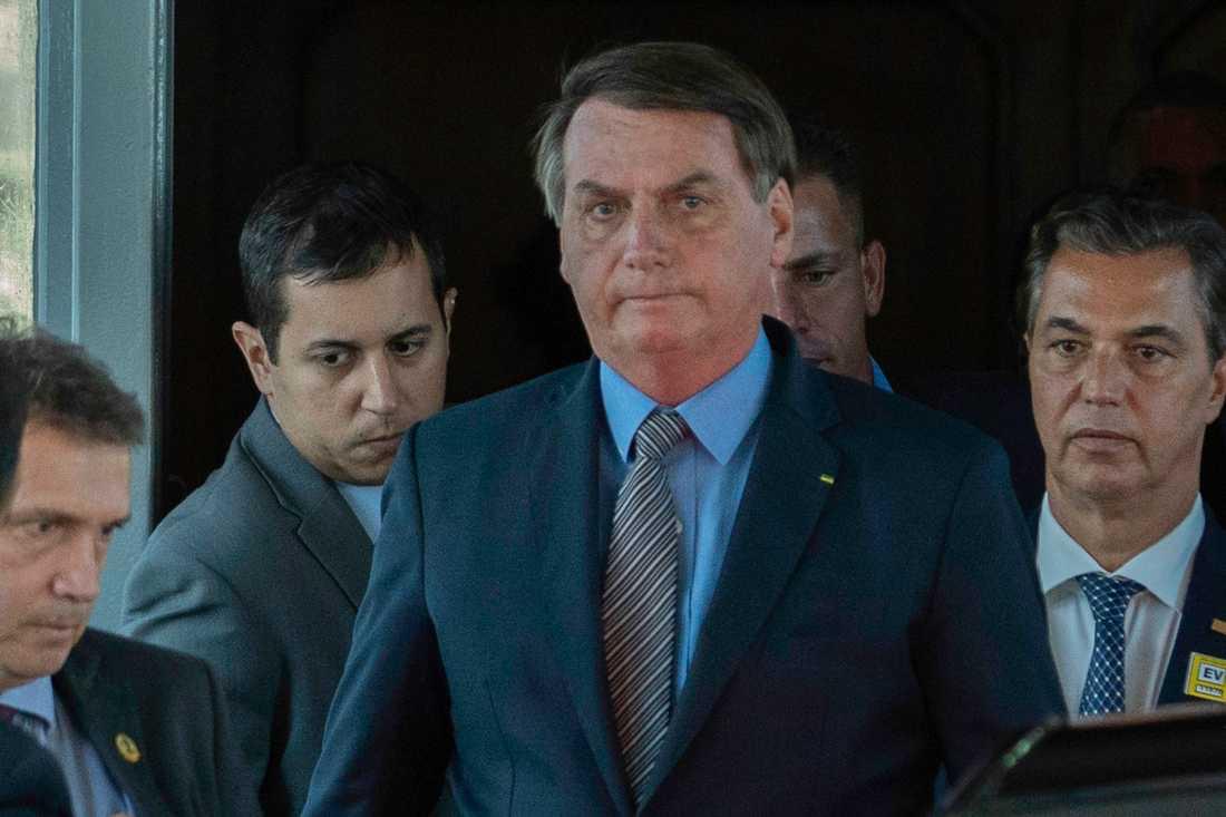 Brasiliens president Jair Bolsonaro. Bild från i mars.