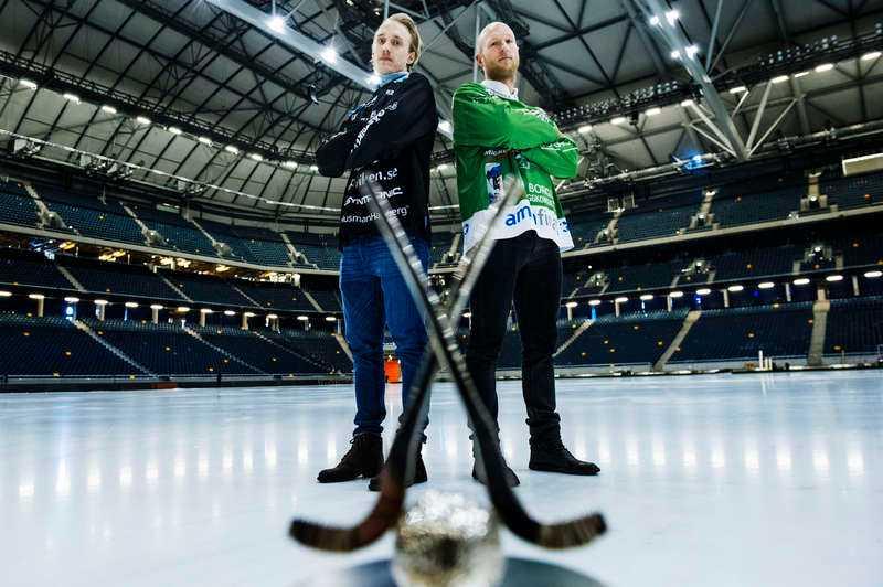 Laddade för historia På söndag drabbar Erik Säfström och Stefan Erixon samman på Friends Arena när Sandviken och Hammarby ska göra upp om guldet inför 40 000 på läktarna.
