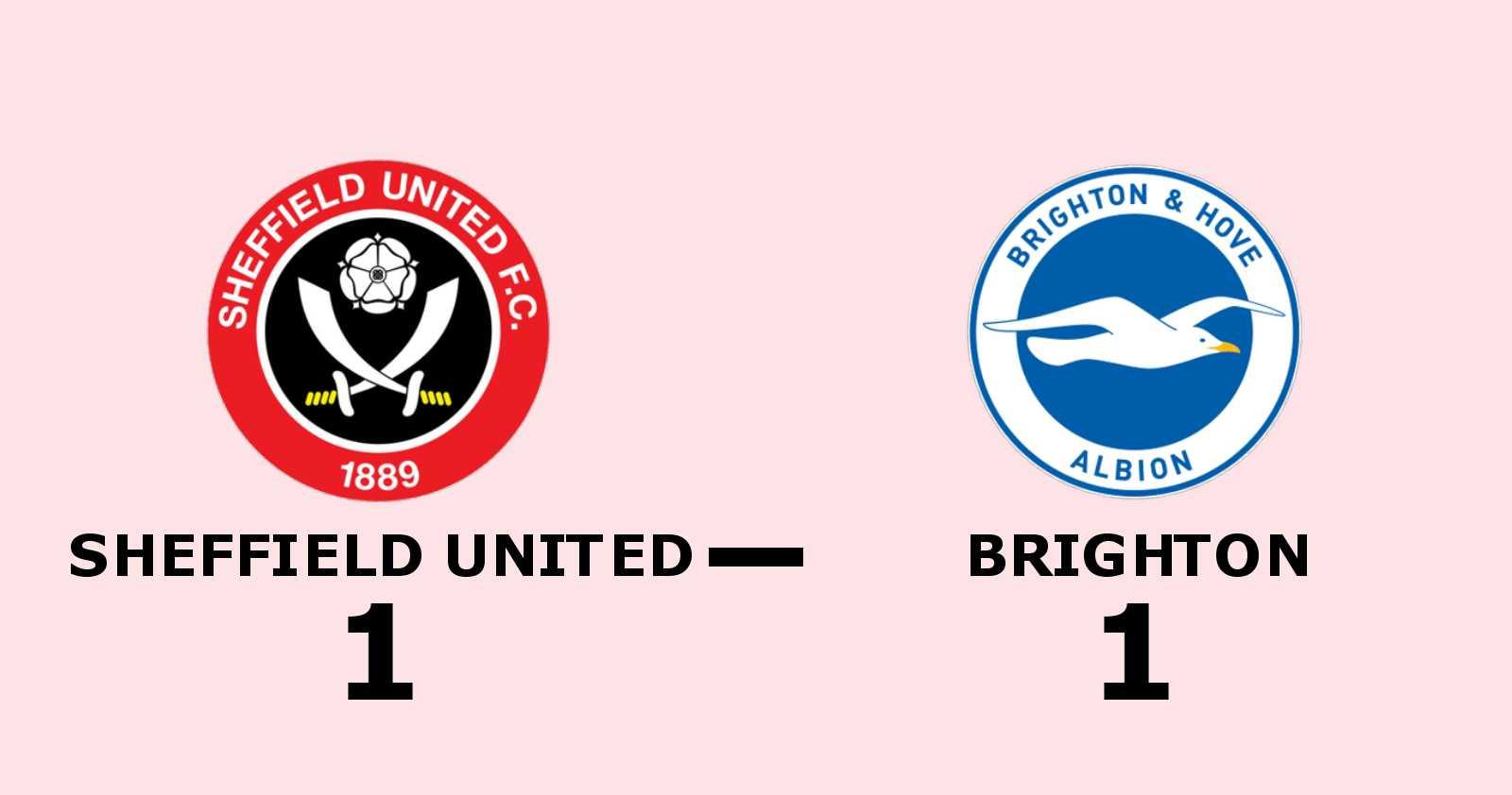 Brighton utan seger för sjunde matchen i rad