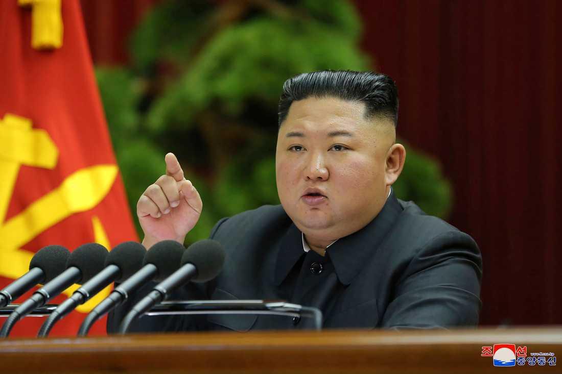 Nordkoreas ledare Kim Jong-Un i december 2019. Bilden kommer från den statliga nyhetsbyrån KCNA. Arkivbild.