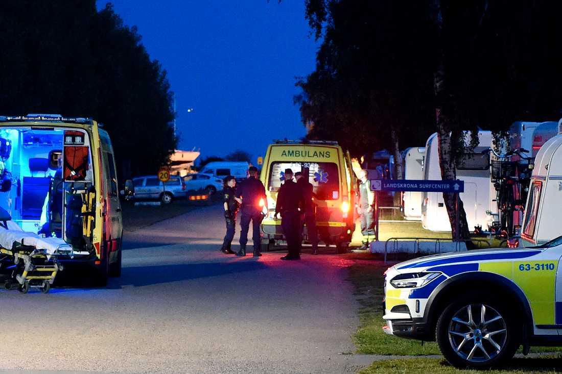 SOS fick larmet om drunkningstillbudet strax före halv elva på tisdagkvällen.