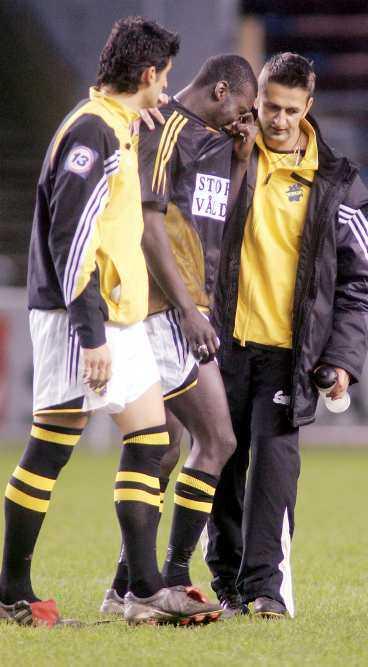 uttåget Nikola Mrdja, Pa Moudo Kah och Nebosja Novakovic deppar efter AIK:s uttåg ur allsvenskan. Men nu hoppas klubben ta sig tillbaka - i rekordfart.