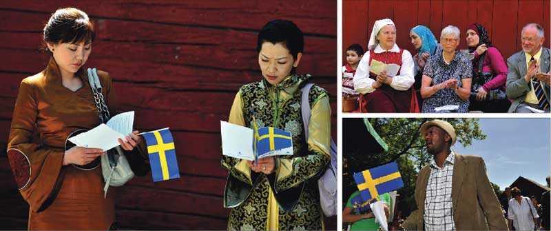 """Sverigedemokraterna kallar Sveriges Hembygdsförbund för """"svenskfientligt"""" för att de vänder sig mot SD:s kultursyn. """"Hembygdsrörelsen är öppen för alla oavsett bakgrund"""", skriver debattörerna. Här är bilder från nationaldagsfirandet den 6 juni 2010 i Upplands Väsby hembygdsförening."""