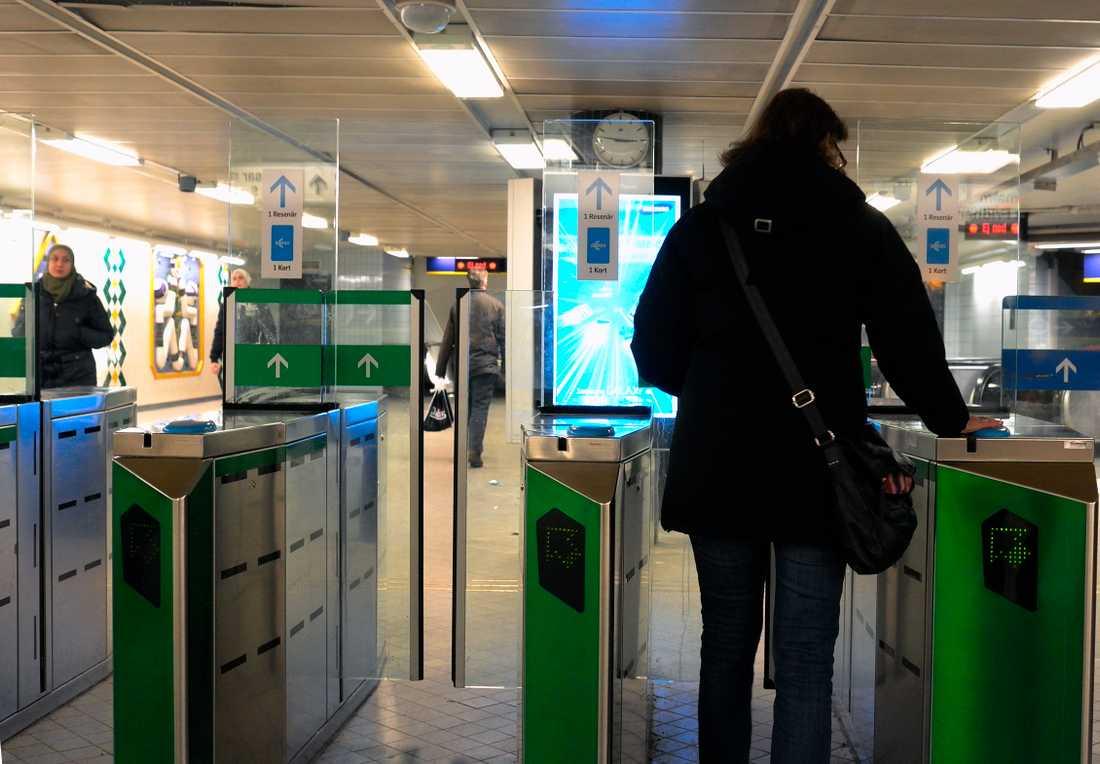 Arkivbild: Spärrarna vid Fridhemsplans tunnelbanestation.
